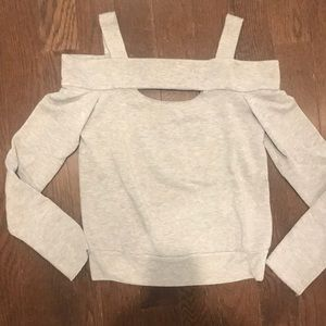 BAILEY 44 open shoulder sweatshirt
